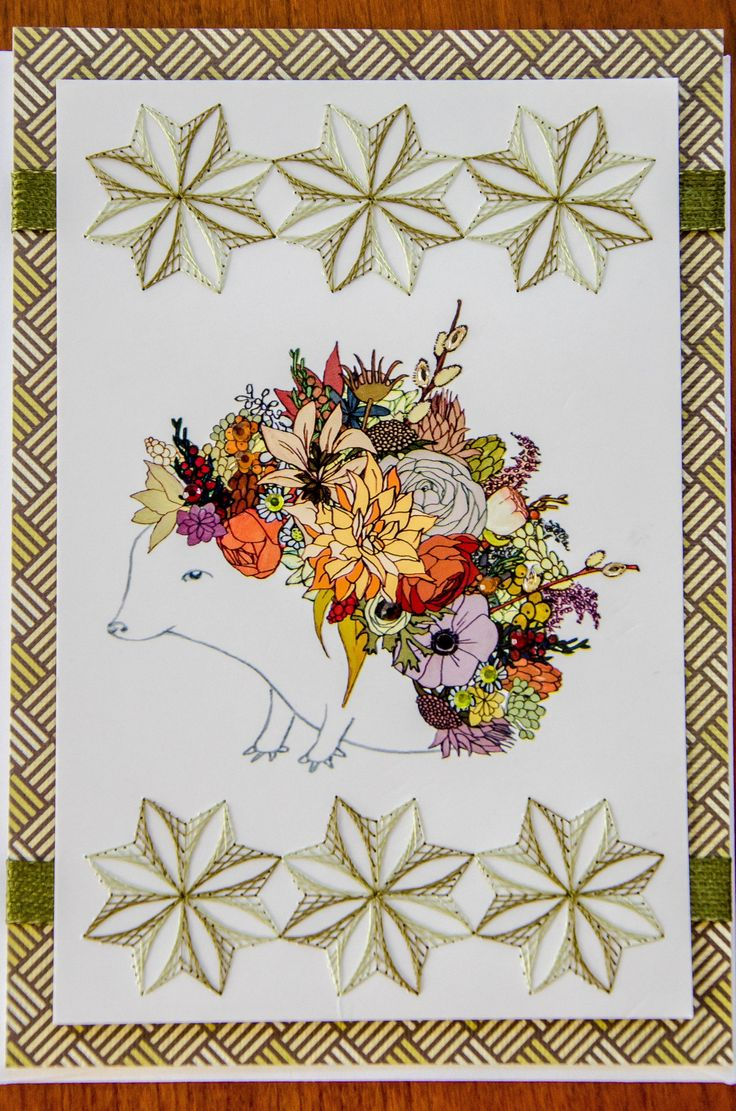 Best embroidery on paper my work images pinterest