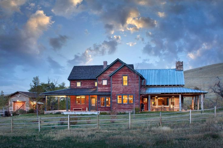 Inviting rustic ranch house embracing a picturesque