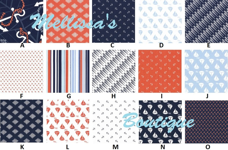 Custom for nicolef63 boutique anchors away nautical baby for Nautical nursery fabric