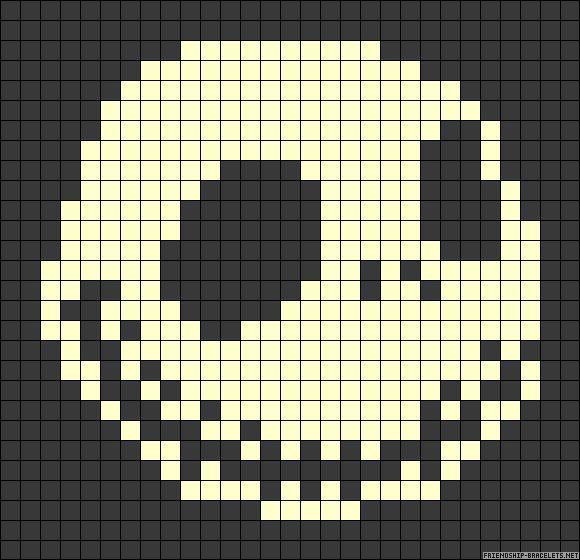 Knitting Pattern Jack Skellington : 72 best Pixel Charts images on Pinterest Cross stitch patterns, Bead patter...
