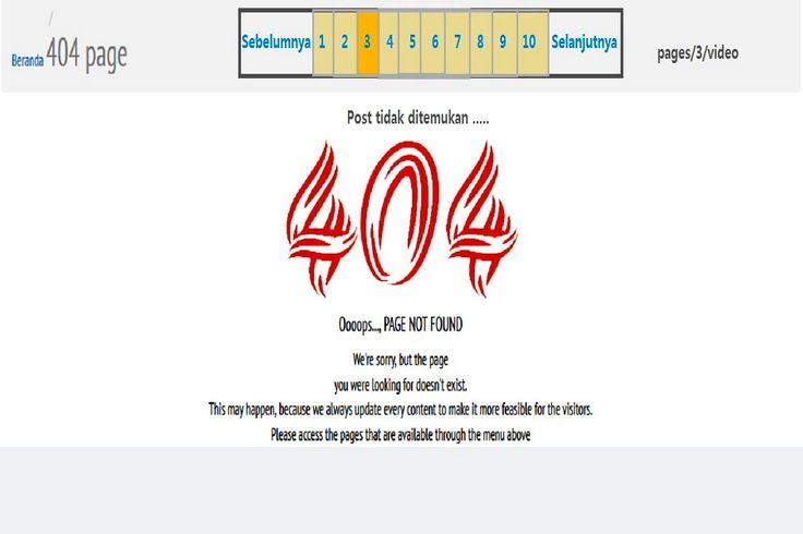Untuk mengatasi error pages 404(Post tidak ditemukan) pada paging halaman video, silahkan ikuti langkah-langkah berikut:1. Silahkan buka