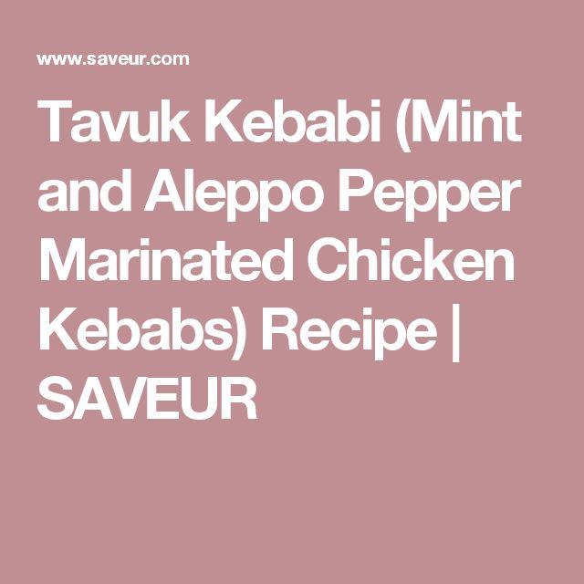 Tavuk Kebabi (Mint and Aleppo Pepper Marinated Chicken Kebabs) Recipe | SAVEUR