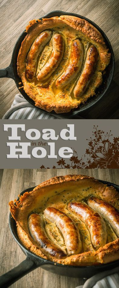 Skillet Toad in the Hole Recipe: Bubble and Squeak is traditionally a left over dish, I like to do mine a little differently and blast it all in a cast iron skillet and rock it with an egg or two. #britishfood #sausage #sausagerecipe #pork #batter #simplefood #quickfood #recipe #recipeoftheweek #recipeideas