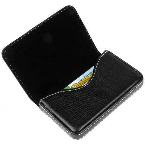 Flip style business card holder. Perfect substitute for keeping cards in the wallet or the pockets. It is made in the form of a book style which has a magnetic closure at the surface. #Wallet #Business Card Wallet