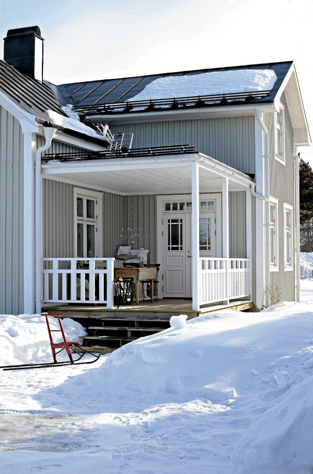 light grey swedish house, beautiful!