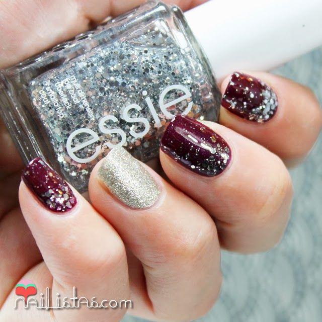 Nailistas: Manicura navideña | Essie Luxeffects | Set in Stones #nailart