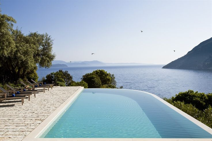 Akrothea - a luxury seafront villa with private sea access and pool on Meganissi, the Ionian Islands, Greece