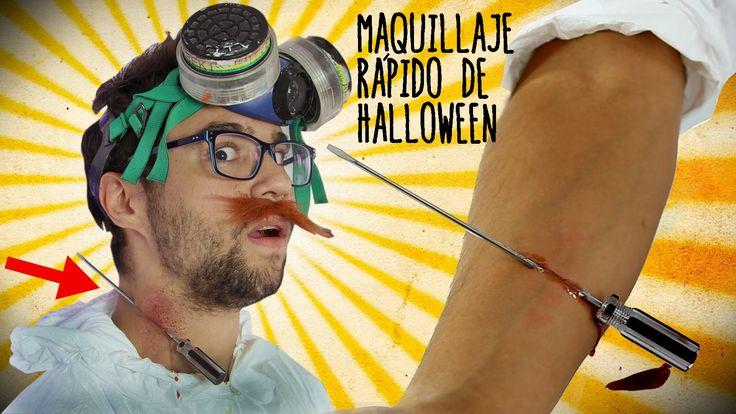 Maquillaje de Halloween fácil y rápido - Destornillador atravesado