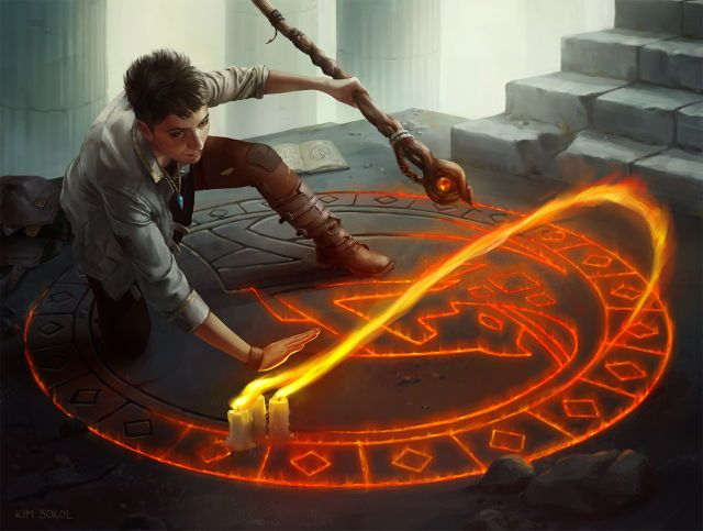 Runes are symbols with quick lettering that activate spells normally too strong for one to control easily, or made to be used as traps.  Normally one writes/draws/carves the rune into wherever they're preforming magic, but a master can conjure up a rune anywhere he/she wishes using arcane magic.