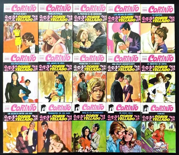 Libros de segunda mano: LOTE DE 38 NOVELAS ROMÁNTICAS CORIN TELLADO // SERIE CORINTO // BOLSILIBROS BRUGUERA // AÑOS 70 - Foto 3 - 53143496