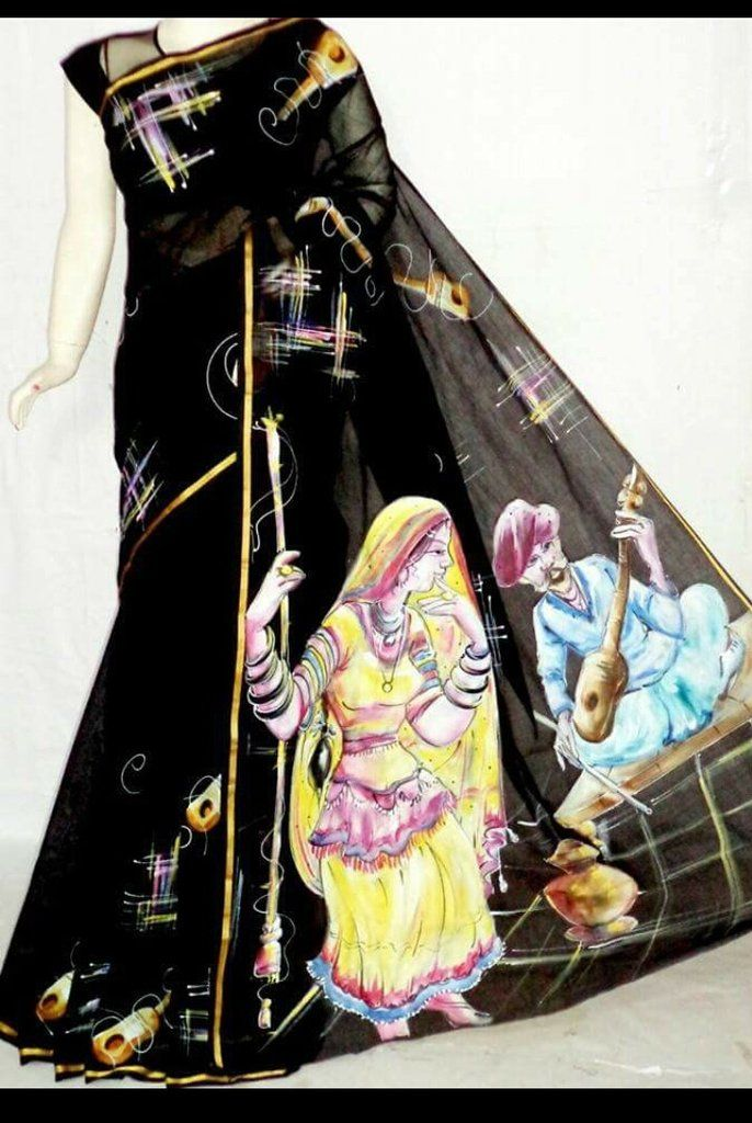 Lovely Kasavu Pure Cotton with Hand Painted Work Saree