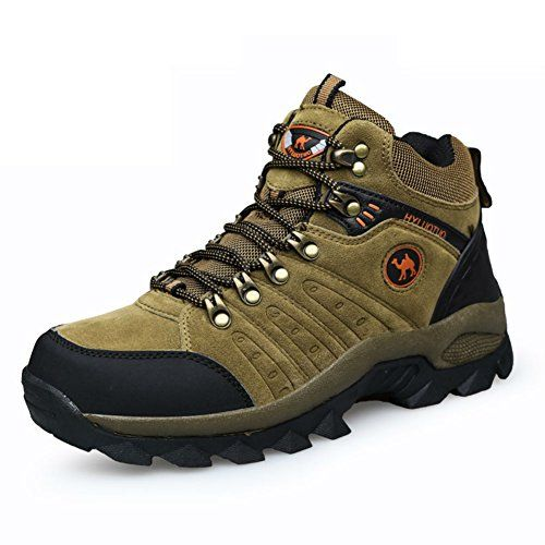 HUAYU mens outdoor hiking walking waterproof suede shoes 75 brown ** Read more  at the image link. (This is an Amazon affiliate link and I receive a commission for the sales and I receive a commission for the sales)