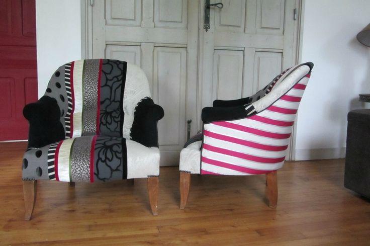 crapaud en patchwork tapissier à Brest