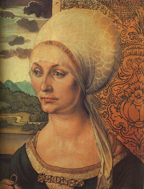"""Portrait of Elsbeth Tucher"" -Durer 1499"