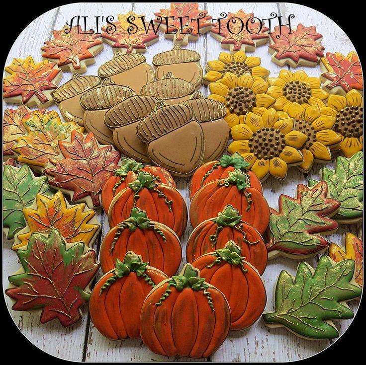 a stunning platter of fall cookies
