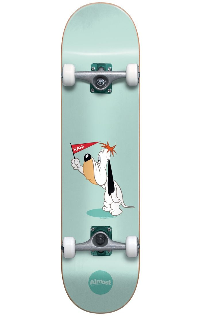 #Almost Skateboards Almost Droopy Complete Skateboard - 8` #Almost and Hanna-Barbera have joined forces in an eye-popping spinoff to help skaters, young and old, relive their youth! With their colourful, stained background and clean-cut graphic, iconic cartoons from the 90s are brought back to life so that you can skate together with your favourite characters! Afterall, like skating, who doesnt love cartoons?!I for one am very, very happy to see these iconic characters back in action! The…