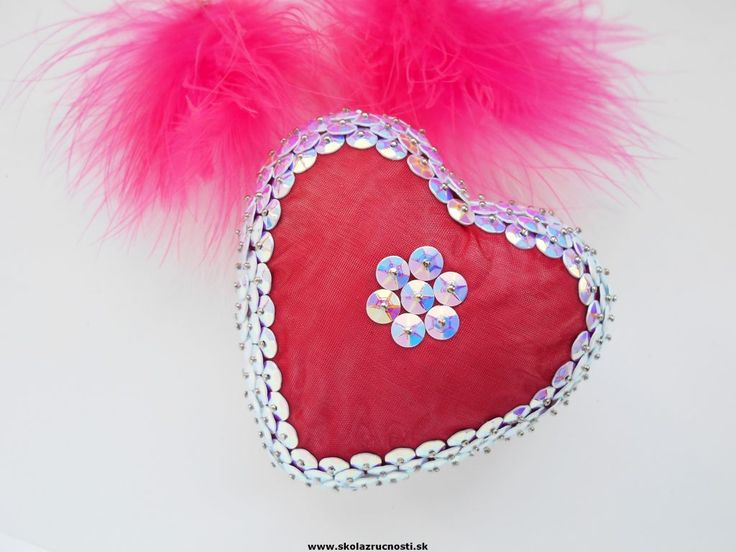 polystyrén srdce flitre styro heart sequins Mother´s Day