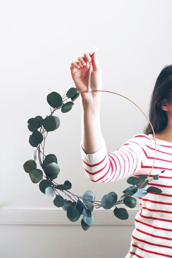 Modern Wreath | Eucalyptus Wreath | Scandinavian Wreath | Minimalist Wreath | DIY autumn wreath | Christmas Wreath Holiday | DIY Kit