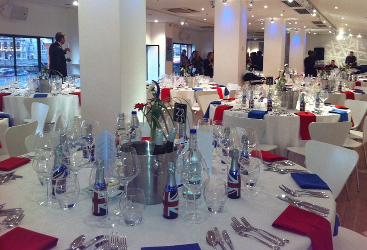 A maritime dinner with a Team GB theme - very 2012!