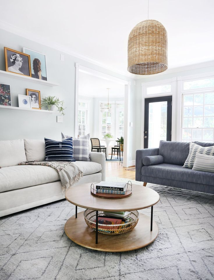 Monochromatic Neutral Rug Ideas Sunny Circle Studio Love The Look Of A Neutral Area Rug In This B Living Room Area Rugs Rugs In Living Room Area Room Rugs
