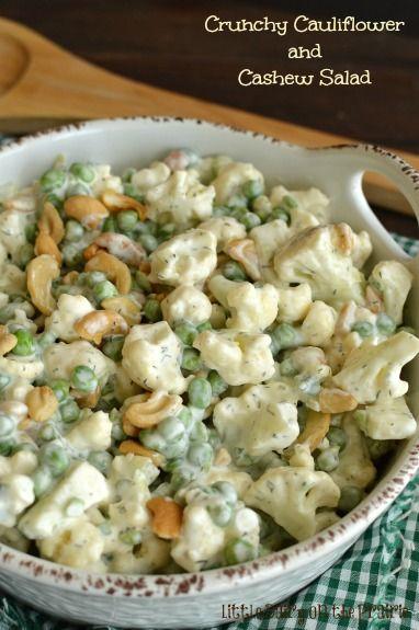 Crunchy Cauliflower and Cashew Salad! Little Dairy on the Prairie