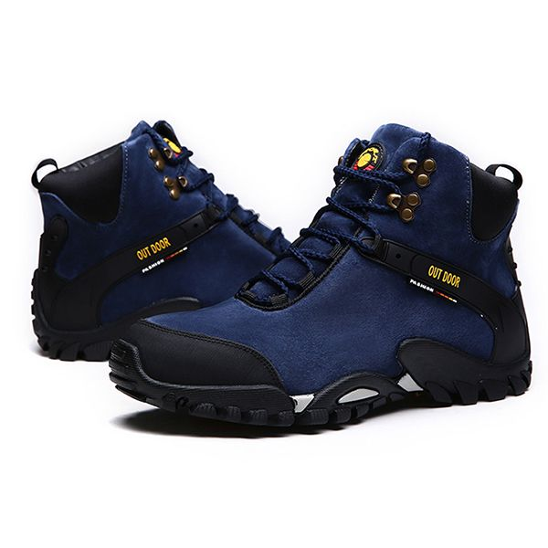 4420b9ffc7eeb High-quality Men Suede Warm Plush Lining Wear-resistant Rubber Sole Ankle  Boots -
