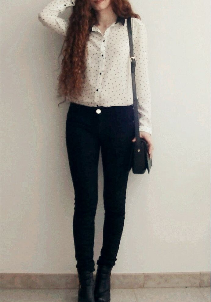 Black & White Outfit #Moda #Outfit