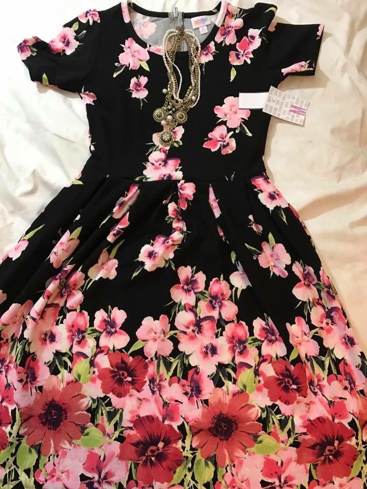 LuLaRoe Amelia dress, flatlay