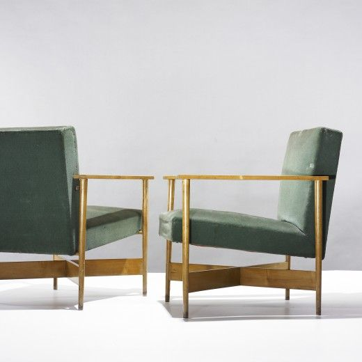 /// Ugo Sissa  pair of armchairs from Casa Campagnolo     Olivetti  Italy, 1941-42