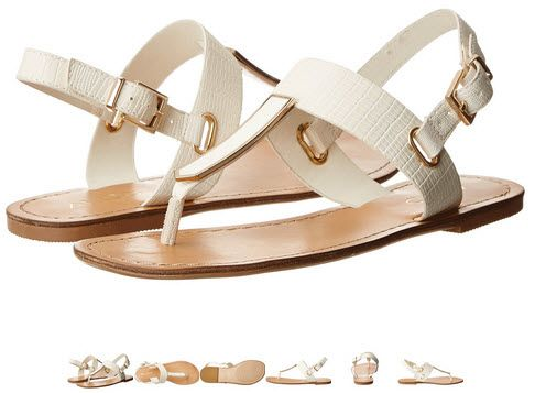 Imi plac sandalele albe! Imi place brandul ALDO! Voua? Sandale de vara joase Aldo Adraedda