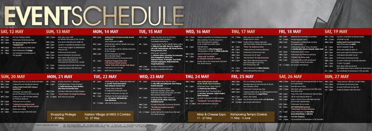 festival schedule design