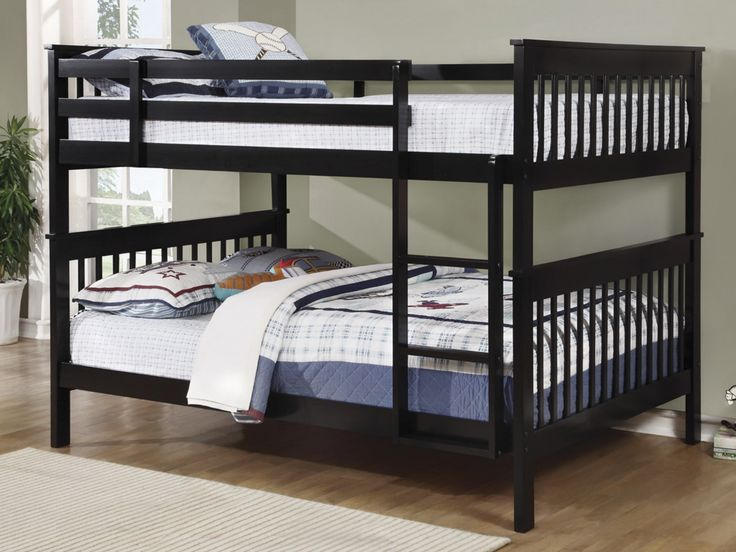 Hampshire Black Full over Full Bunk Bed