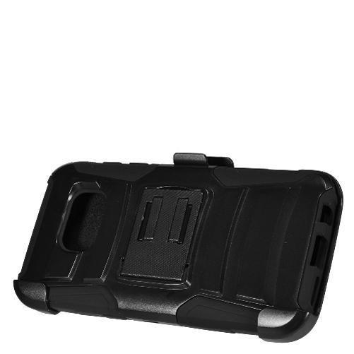 Samsung Galaxy S7 Black + Black + Black Robotic Case 2 w/ Holster