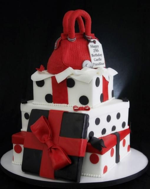 Best Th Birthday Cake Ideas Images On Pinterest Biscuits - Purse birthday cake ideas