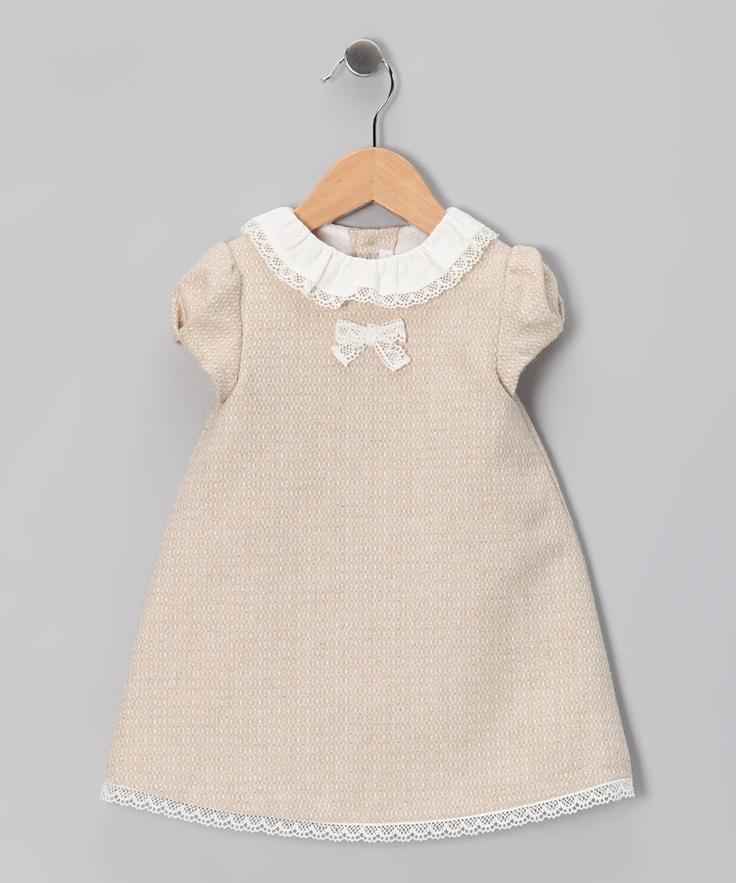 Fina Ejerique Beige Tweed Dress - Infant