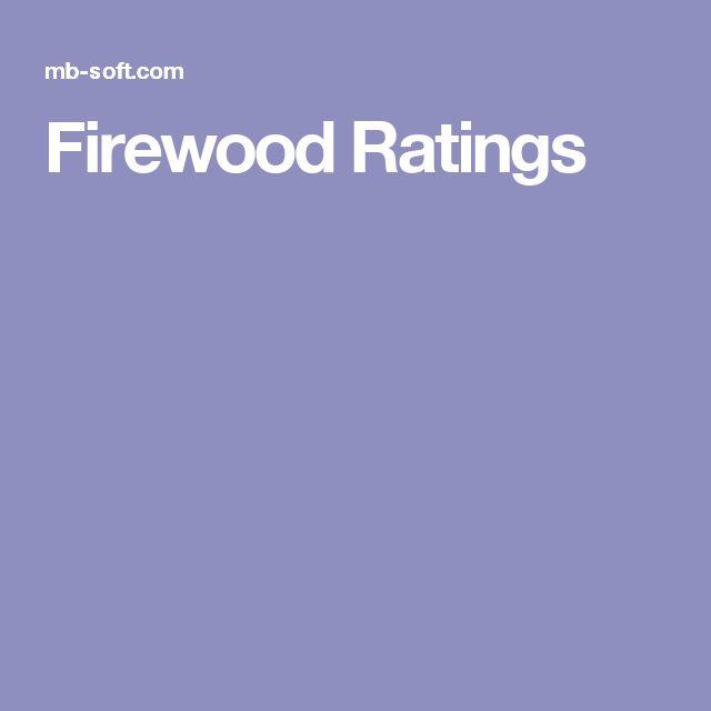 Firewood Ratings