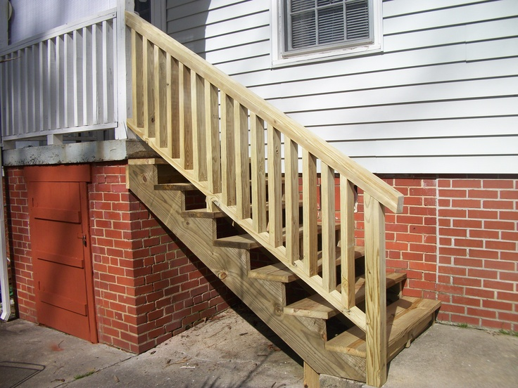 Pressure Treated Steps And Railing Southern Homes | Pressure Treated Stair Railing