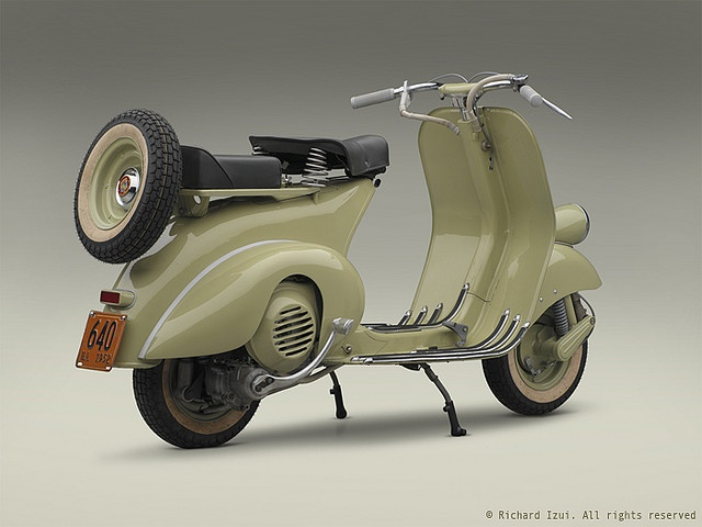 1952 Vespa 125 (right 3/4 rear) by bredlo, via Flickr