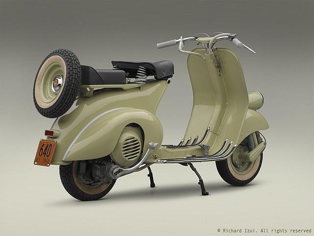 1952 Vespa 125 (right 3/4 rear) by bredlo, via Flickr