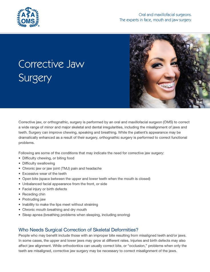 Corrective jaw surgery, or orthognathic surgery, realigns jaws and teeth to improve basic functions. Download the eBook.