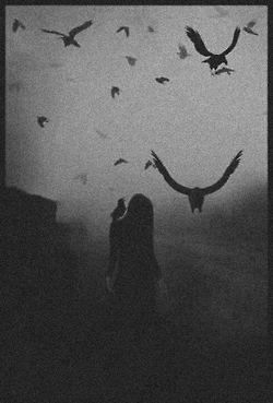 depression sad lonely dark gothic Crows dark photography gothic photography black snd white