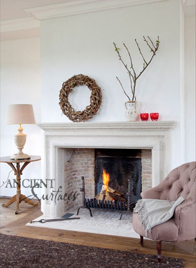 7 Simple yet Elegant Antique Stone Fireplaces