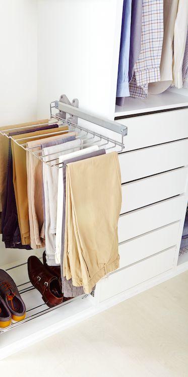 Accede a tus pantalones con mayor facilidad gracias a los - Cestas extraibles para armarios ...