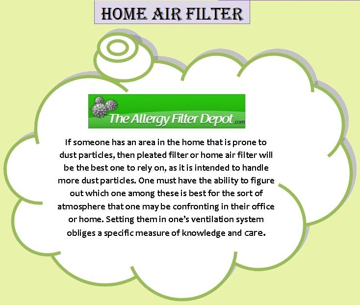 Visit the link for more information about Home Air Filter at http://www.allergyfilterdepot.com