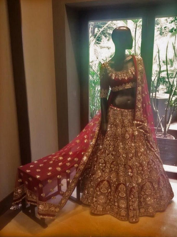 By designer Manish Malhotra. Bridelan- Personal shopper & style consultants for Indian/NRI weddings, website www.bridelan.com #Bridelan #weddinglehenga #ManishMalhotra #ManishMalhotraweddinglehenga