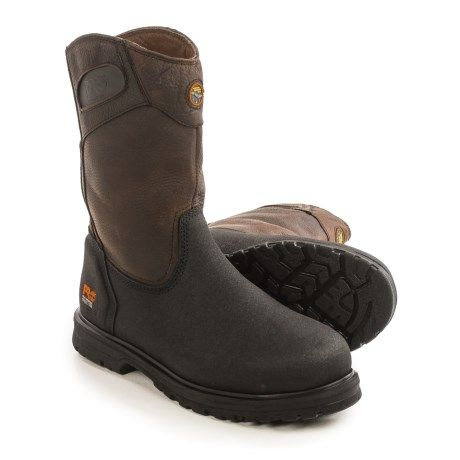 Timberland Pro Series Powerwelt Wellington Work Boots - Leather, Steel Toe (For Men) in Brown