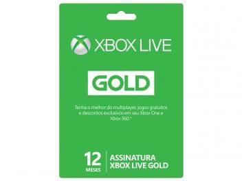 Cartão Microsoft Xbox Live Gold 12 meses - para Xbox One e Xbox 360