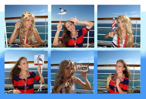 nautical photo booth props