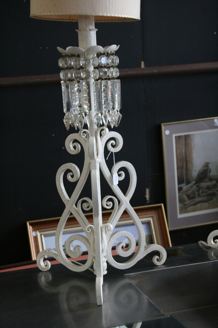 Shabby Chic crystal lamps
