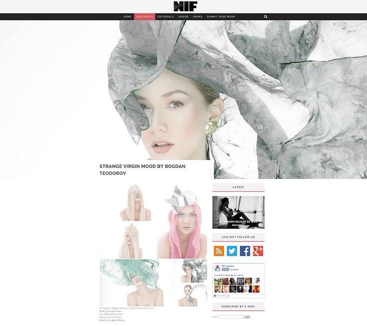 "Editorial ""Strange virgin mood"" for NIF Magazine by photographer Bogdan Teodorov MUA: Lacramioara Tataru Fashion Stylist: Ecaterina Colasiz Model: Delia Moisei - Max1 Models"